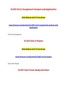 CJ 227 All Assignments