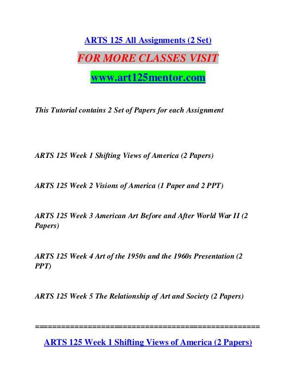 ART 125 MENTOR Extraordinary Success/art125mentor.com ART 125 MENTOR Extraordinary Success/art125mentor