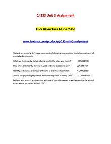 CJ 233 Unit 3 Assignment