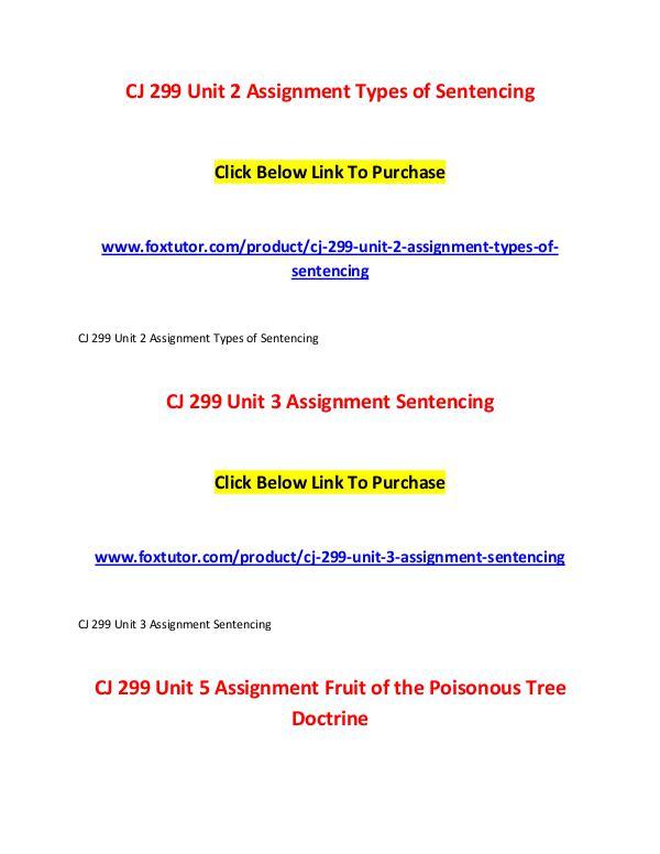 CJ 299 All Assignments CJ 299 All Assignments