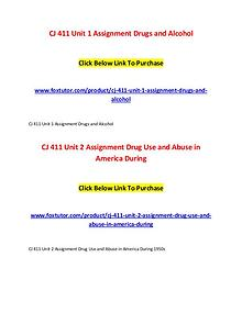 CJ 411 All Assignments