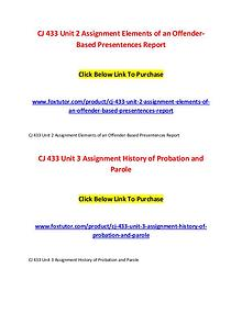 CJ 433 All Assignments