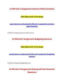 CJ 444 All Assignments