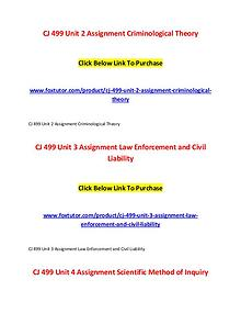 CJ 499 All Assignments