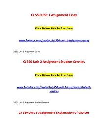 CJ 550 All Assignments