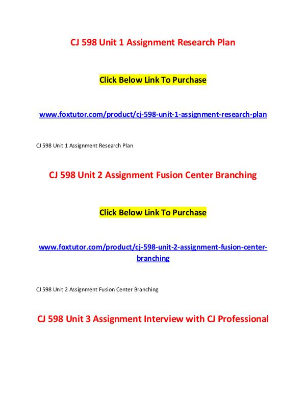 CJ 598 All Assignments CJ 598 All Assignments