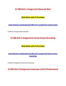 CJ 598 All Assignments