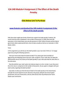 CJA 140 Module 4 Assignment 2 The Effect of the Death Penalty