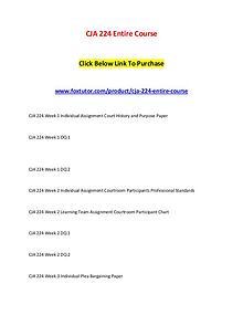 CJA 224 Entire Course