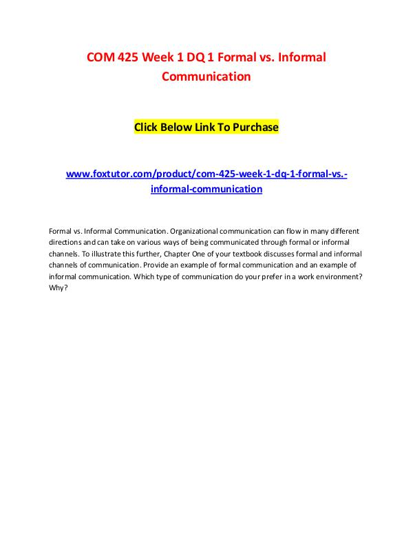 formal and informal communication difference