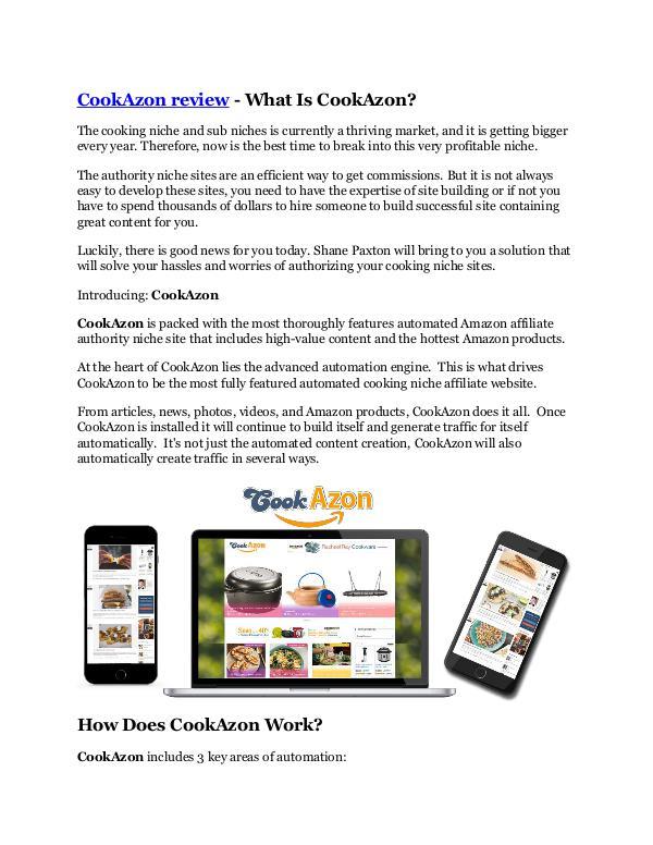 Marketing CookAzon review -(FREE) $32,000 Bonus & Discount