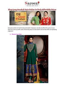 Shop Long Anarkali Suits Online In Truly Affordable Prices