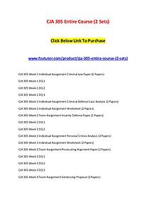 CJA 305 Entire Course (2 Sets)