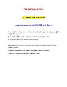 CJA 305 Week 2 DQ 1