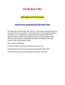 CJA 305 Week 3 DQ 1