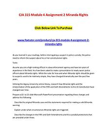 CJA 315 Module 4 Assignment 2 Miranda Rights