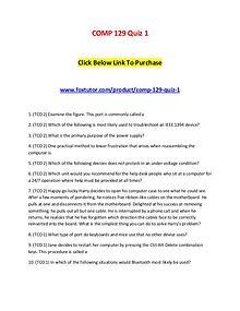 COMP 129 Quiz 1