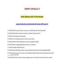 COMP 129 Quiz 3