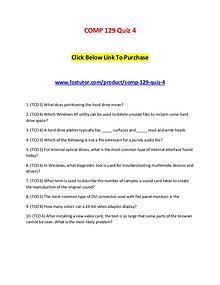 COMP 129 Quiz 4