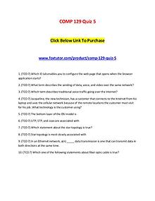 COMP 129 Quiz 5