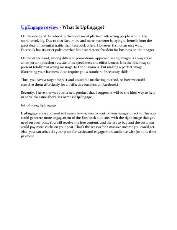 UpEngage review