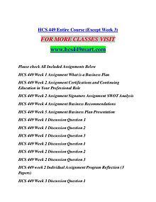 HCS 449 MART Extraordinary Success/hcs449mart.com