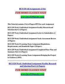 HCS 529 STUDY Extraordinary Success/hcs529study.com