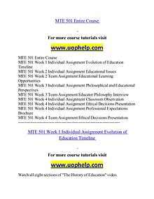 MTE 501 help Successful Learning/uophelp.com