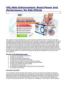 Is it safe to make use of VXL Male Enhancement Pills?