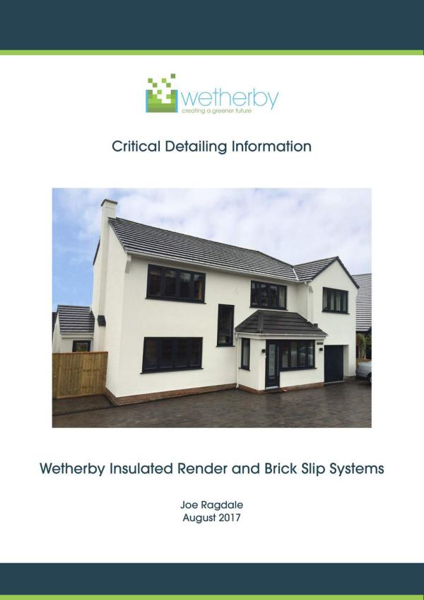 Critical Detailing Document Wetherby Critical Detailing Document