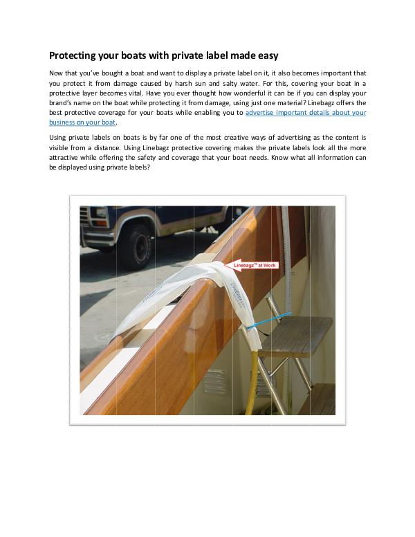 Protecting your boats with private label made easy Protecting your boats with private label made easy