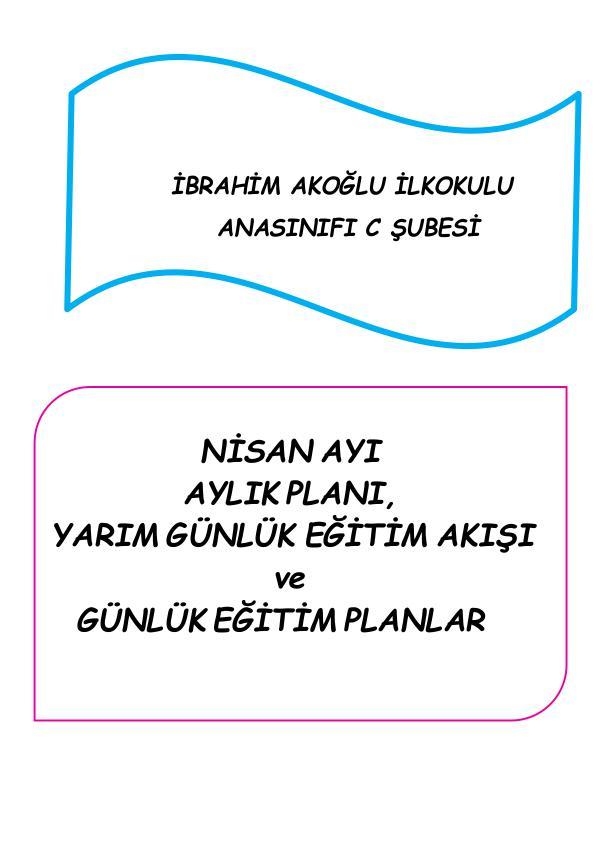 Okulöncesi Günlük Plan Örneği günlük plan