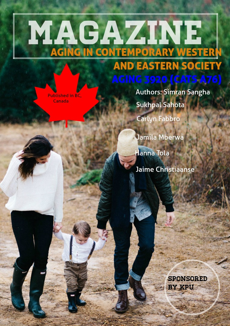 Aging in Contemporary Western and Eastern Society 1