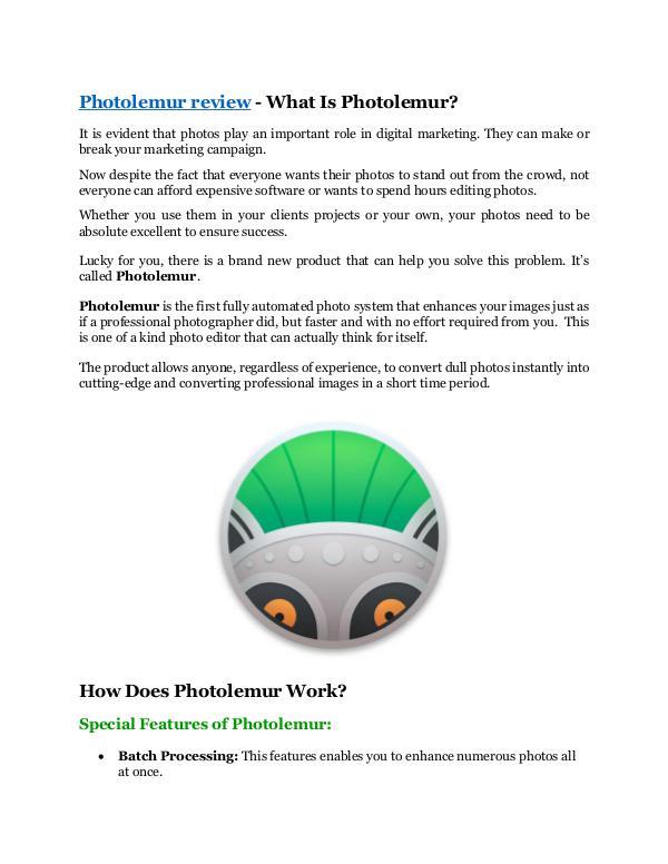 Marketing Photolemur review & GIANT bonus packs
