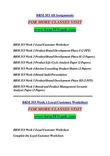 BRM 353 RANK Extraordinary Success /brm353rank.com