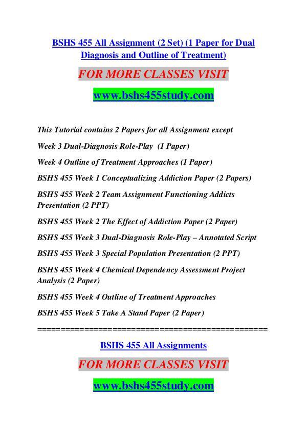 BSHS 455 STUDY Extraordinary Success /bshs455study.com BSHS 455 STUDY Extraordinary Success /bshs455study