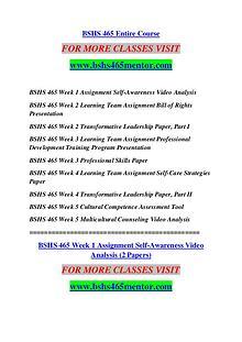 BSHS 465 MENTOR Extraordinary Success /bshs465mentor.com