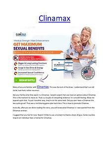 Clinamax - Triggers the production of testosterone in the male's body