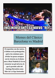 MEMES DEL CLÀSICO BARCELONA VS REAL MADRID