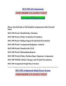 HCS 550 STUDY Extraordinary Success/hcs550study.com