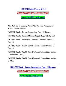 HCS 552 RANK Extraordinary Success/hcs552rank.com