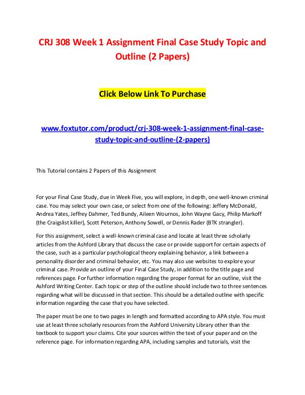 Case Study Outline In Apa Format - About This Website