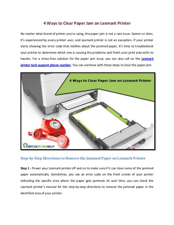 4 Ways to Clear Paper Jam on Lexmark Printer