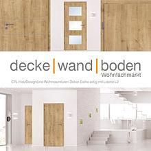 dwb Wohnraumtüren CPL Holz Design Line mit Lisenen L2 Eiche astig