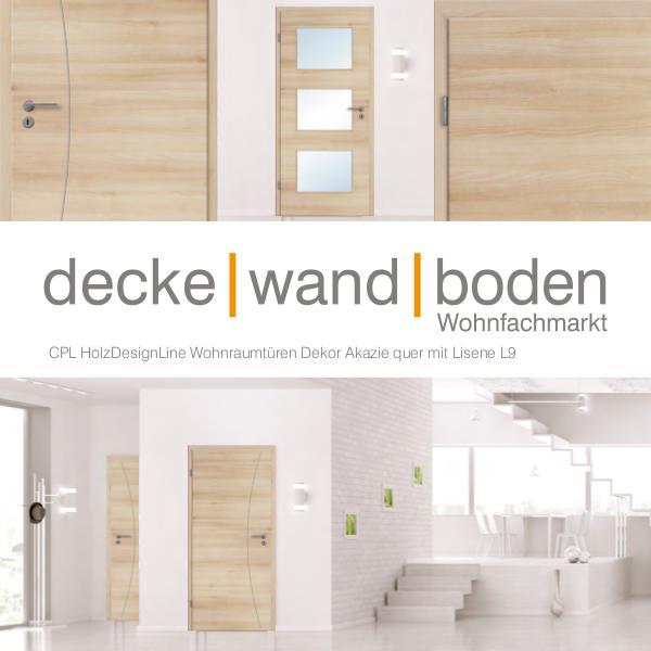 dwb Wohnraumtüren CPL Holz Design Line mit Lisenen L9 Akazie quer dwb Wohnraumtüren CPL Holz Design Line mit Lisene