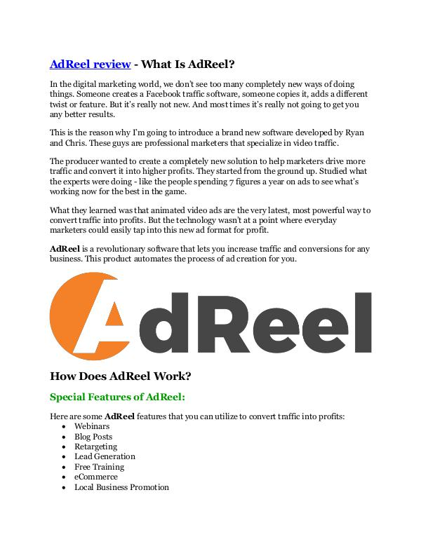 Marketing AdReel review and (Free) GIANT $14,600 BONUS