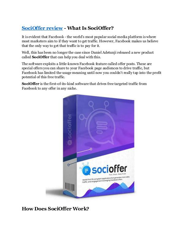 SociOffer review-(Free) bonus and discount