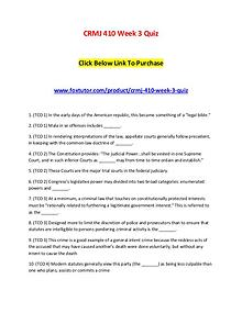 CRMJ 410 Week 3 Quiz