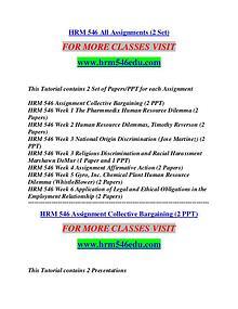HRM 546 EDU Extraordinary Success/hrm546edu.com