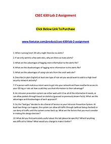 CSEC 630 Lab 2 Assignment